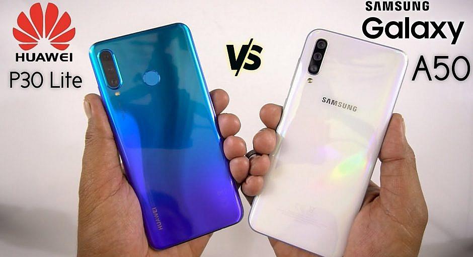 Huawei P30 lite vs. Samsung Galaxy A50